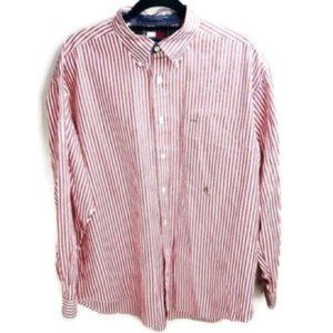Tommy Hilfiger Vintage Striped Long Sleeve Shirt L